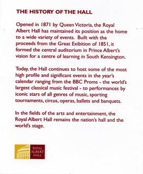 Albert Hall reverse