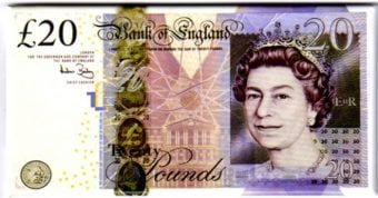 B of E £20 Note Magnet