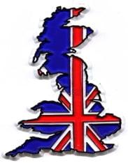 159 – UK Outline – Union Jack Colours