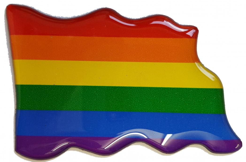 F5 – Epoxy Resin – Rainbow Flag