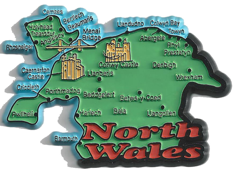 North Wales Map